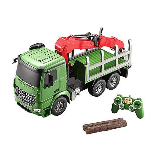 LXWM RC LKW kran Spielzeug 2,4G Skala Auto Modell Fernbedienung Wiederaufladbare Elektroauto Kran Traktor Mit Lichter und Sound Baumaschinen Kran Spielzeug