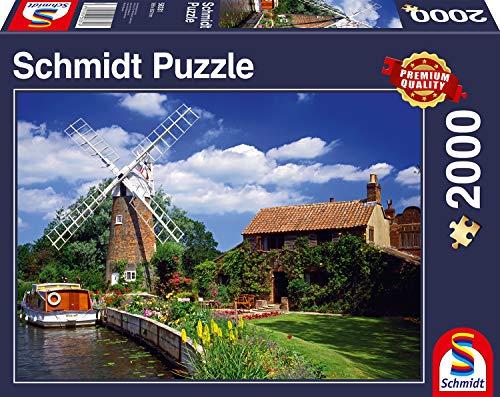Schmidt Spiele Puzzle 58331 Unterwegs mit dem Hausboot, 2000 Teile