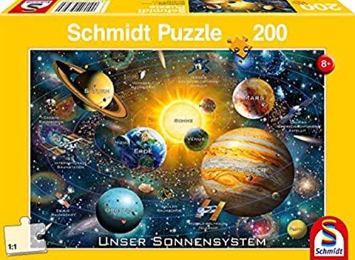 Schmidt Spiele 56308 Unser Sonnensystem, 200 Teile Kinderpuzzle