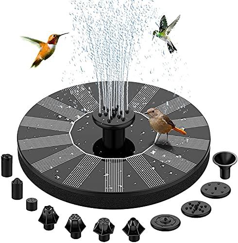 BAONUOR Solar Springbrunnen 2021 Upgrade, Solar Teichpumpe mit 11 Effekte Solar Wasserpumpe Solar schwimmender Fontäne Pumpe für Gartenteich Oder Springbrunnen Vogel-Bad Fisch-Behälter