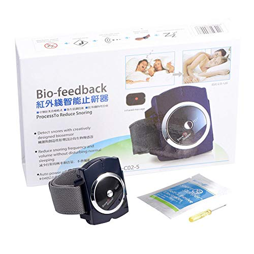 Schnarchstopper Armband Intelligente Infrarot Anti-Schnarch Bio-Feedback Uhr Pure Sleeping Night Guard Aid, Power by battery (Not included)