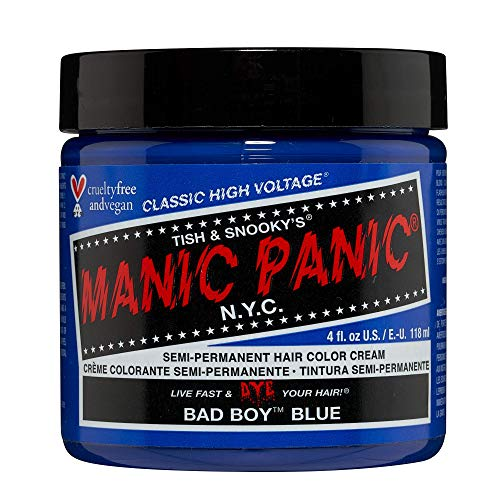 Manic Panic - Bad Boy Blue Classic Creme Vegan Cruelty Free Blue Semi Permanent Hair Dye 118ml