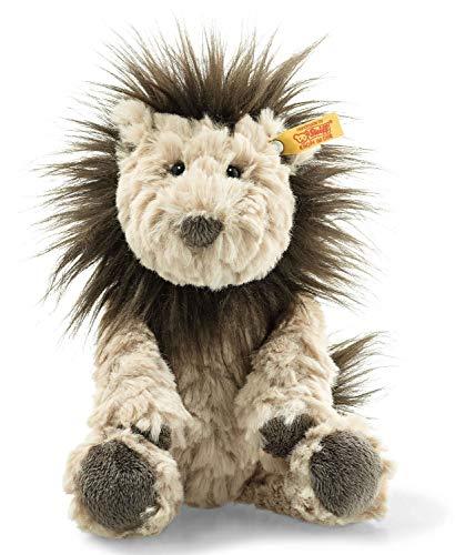 Steiff Lionel Löwe - 20 cm - Plüschlöwe - Kuscheltier für Kinder - Soft Cuddly Friends - weich & waschbar - beige / braun (065675)