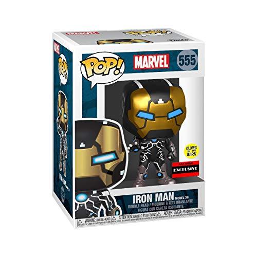 Funko – 43965 Pop! – Marvel 80th Anniversary – Iron Man Model 39 – Wackelkopf Vinyl Figur, 9cm (Im Dunkeln Leuchtend)