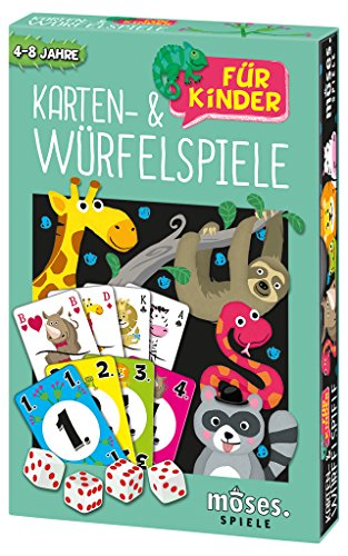 Moses 90293 Karten- und Würfelspiele für Kinder | Spielesammlung mit 18 Spielen | Für 44294 Jahre