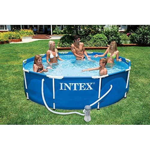 Intex 28202GN Metal Frame Pool - Aufstellpool - Ø 305 x 76 cm,Blau
