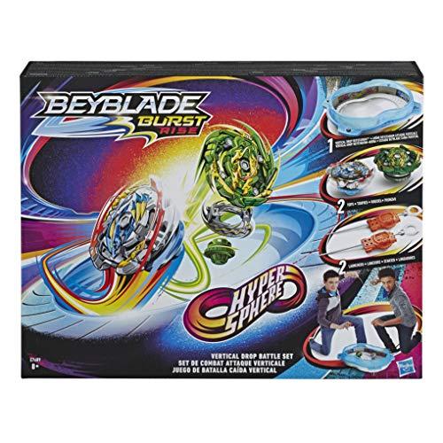 Beyblade Burst Original Rise Hypersphere Vertical Drop Battle Set – Komplettes Set mit Beystadium-Arena, 2 Battle Kreisel Spielzeugen und 2 Startern