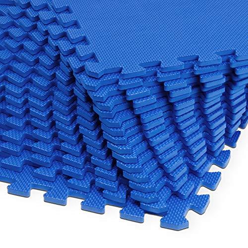 Monzana 16er Set Bodenschutzmatte 45x45x1cm Puzzlematte 3,24m² Schaumstoff Poolmatte Fitness Matte Fitnessmatte Bodenmatte
