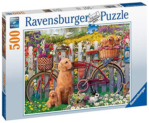 Ravensburger Puzzle 15036 - Ausflug ins Grüne - 500 Teile Puzzle für Erwachsene und Kinder ab 10 Jahren, Puzzle mit Hunde-Motiv