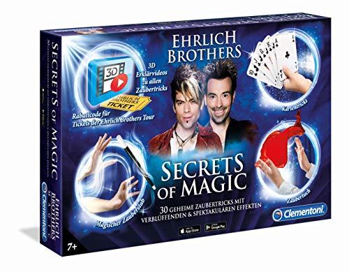 Clementoni 59048 Ehrlich Brothers Secrets of Magic, Zauberkasten für Kinder ab 7 Jahren, magisches Equipment für 30 verblüffende Zaubertricks, inkl. 3D Erklärvideos, als Ostergeschenk