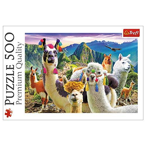 Trefl, Puzzle, Lamas im Gebirge, 500 Teile, Premium Quality, für Erwachsene und Kinder ab 10 Jahren