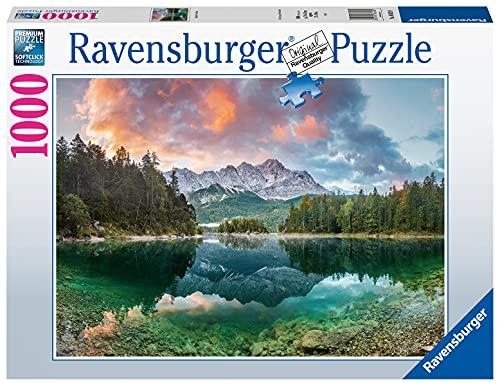Ravensburger Puzzle 1000 Teile - Zugspitze am Eibsee - Puzzle für Erwachsene und Kinder ab 14 Jahren, Puzzle mit Landschafts-Motiv, Amazon Sonderedition Exklusiv bei Amazon