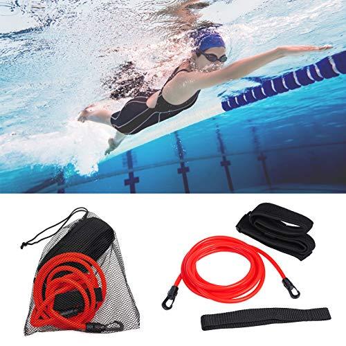 Heiqlay Schwimmtraining Gürtel, 4M Schwimmtraining Elastischen Seil Set, Schwimmgürtel Schwimmlernhilfe, Verstellbarer Schwimmgürtel für Erwachsene Kinder Schwimmer Amateure, 4m