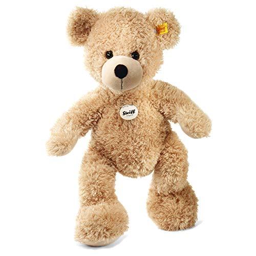 Steiff Teddybär Fynn - 40 cm - Teddy Kuscheltier für Kinder - beweglich & waschbar - beige (111679)