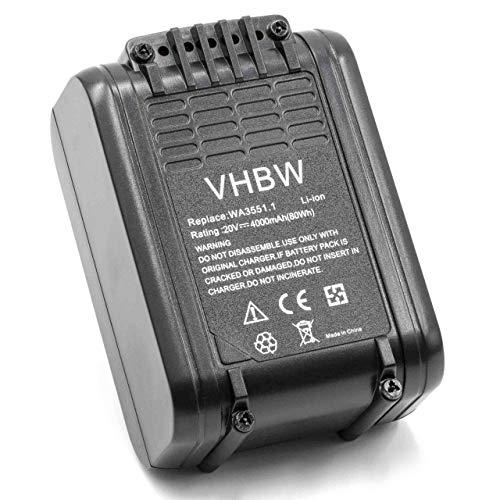 vhbw Akku kompatibel mit Worx Landroid M1000 WR143E, M500 WR141E, M700 WR142E, M WR141E Elektrowerkzeug (4000mAh Li-Ion 20 V)