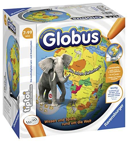Ravensburger tiptoi 00787 - 'Der interaktive Globus' / Spiel von Ravensburger ab 7 Jahren / Wissen und Spiele rund um die Welt