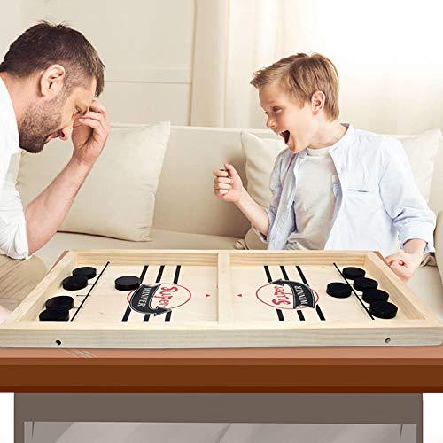 Katapult Brettspiel, Fast Sling Puck Game Portable Board Games Holzhockeyspiel Tischspiel Tisch Slingshot Brettspiel, Spiel Stoßstange Schach, Desktop-Spiel für Kinder & Eltern-Kind (Klein)