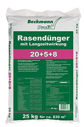 Beckmann Profi Rasendünger 20+5+8 mit Langzeitwirkung, 25 kg