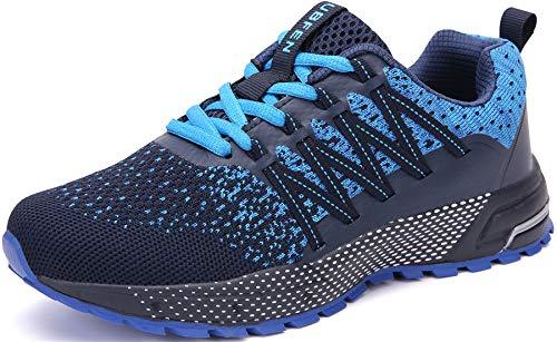 SOLLOMENSI Laufschuhe Damen Herren Sportschuhe Straßenlaufschuhe Sneaker Joggingschuhe Turnschuhe Walkingschuhe Schuhe 44 EU H Blau