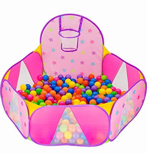 NUBUNI Bällebad für Kinder : Bällepool : Bällebad für Baby : Kleinkind Bällchenpool : Bällchenbad : Planschbecken : Baby Spielzelt : Ballebad : Pop up G