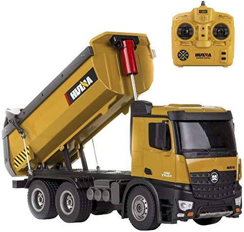 CELMAN Dumping Truck 1573 | 1:14 | Metal Kippaufbau | 10 Kanal Kipper | LKW RC Ferngesteuert | Muldenkipper | Baufahrzeuge | 2.4G