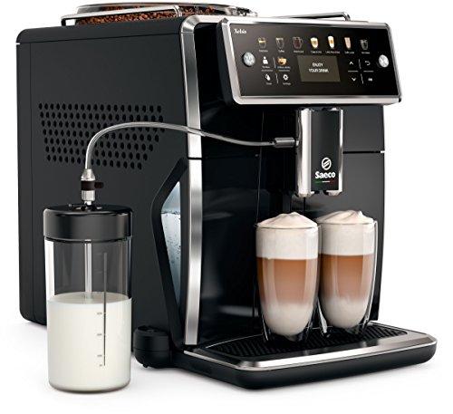 Saeco SM7580/00 Xelsis Kaffeevollautomat, 12 Kaffeespezialitäten (LED-Display mit Direktwahltasten, 6 Benutzerprofile), Schwarz