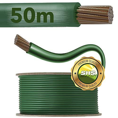 50m - SHS Universal Begrenzungskabel Begrenzungsdraht Kabel für Mähroboter Suchkabel Rasenroboter kompartibel mit Gardena/Bosch/Husqvarna/Worx/Honda/ROBOMOW/iMow/KÄRCHER UVM.