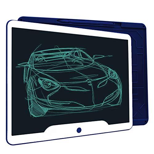 Richgv 15 Zoll LCD Writing Tablet mit Anti-Clearance Funktion und Stift, Digital Ewriter Grafiktabletts Schreibtafel Papierlos Notepad Doodle Board (Blau)