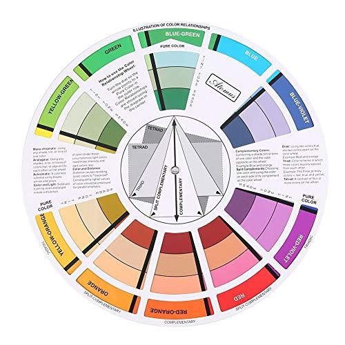 Farbrad, Farbmischungs Taschenführung, Ihr Farbrad für eine harmonische Raumgestaltung Geschenkartikel, Pocket Farbrad für Künstler Tattoo Pigmentfarbe Farbmischung Anleitung zum Mixen von Farben