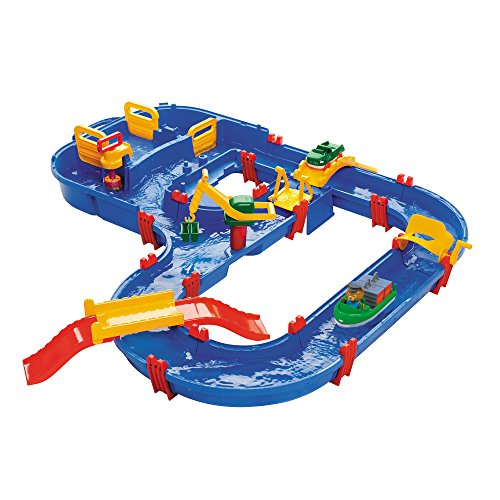 Aquaplay 8700001528 - Wasserbahn Set 'Megabridge', 32-teilig