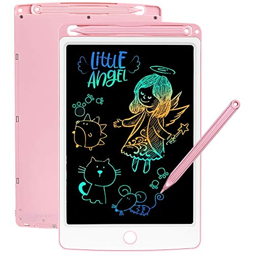 SCRIMEMO LCD Schreibtafel 8,5 Zoll Bunte hellere Schrift, LCD Writing Tablet Schreibtafel für Kinder, Stift Papierlos für Schreiben Malen Notizen Super als Geschenke (Rosa)