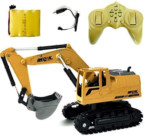 Alivisa 8-Kanal-Fernbedienung Spielzeug Bagger mit Licht und Sounds 2.4G RC Baumaschinen Ketten Traktor Spielzeug Baufahrzeuge Kette für Kinder Jungen Mädchen