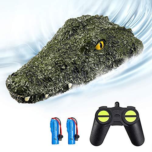 EACHINE EB01 RC Boot Kinder 2.4G Ferngesteuertes Boot Spielzeugimitat Krokodilkopf Wasserdicht Parodie Spielzeug Zwei Batterien 30Min Spaßzeit