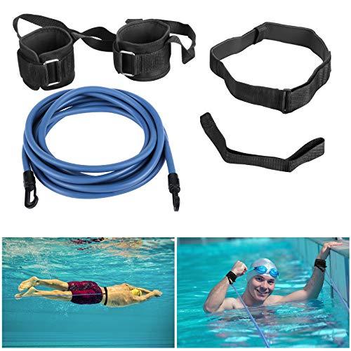Pool Schwimmgürtel, Wokkol Schwimmgurt, Schwimmtraining Gürtel, Schwimmgürtel Erwachsene, Schwimmtraining Bungee Durable, Einstellbare Pool Schwimmgürtel, für Erwachsene/Kinder/Profis(4M)