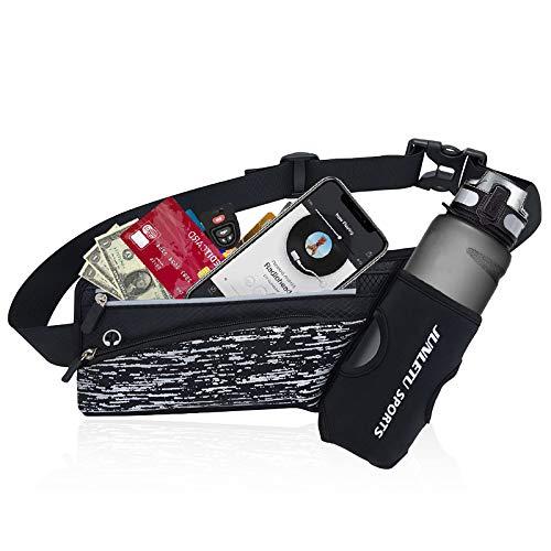 mefound Sport Hüfttasche für Trinkflasche, Gürteltasche Hüfttasche Bauchtasche für 7' Laufgürtel Lauftasche mit Kopfhöreranlass Herren Damen für Outdoors Fitness Ausgeführt Radfahren Wandern Walking