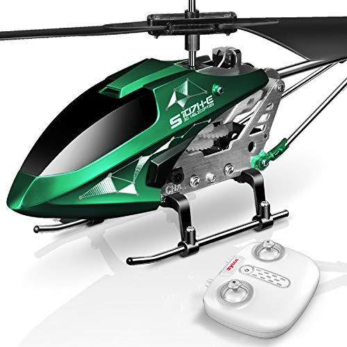 SYMA Hubschrauber ferngesteuert Helikopter Fernbedienung RC Helicopter Indoor Outdoor Flugzeug Geschenk Kinder S107H-E 3.5 Kanal 2.4 Ghz LED Leucht Gyro Höhe Halten