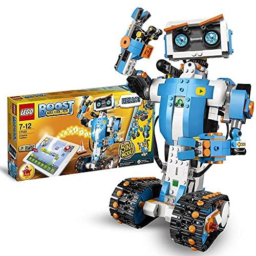 LEGO 17101 Boost Programmierbares Roboticset, 5-in-1 App-gesteuertes Modell mit einem programmierbaren, interaktiven Roboter Spielzeug und Bluetooth-Funktion