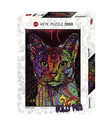 Heye Puzzle 29810 Abyssinian Standard 2000 Teile, Dean Russo, White