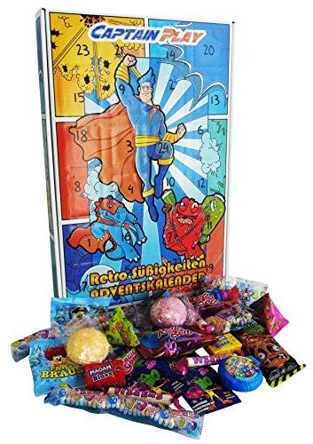 CAPTAIN PLAY   Retro Süßigkeiten Adventskalender   313g