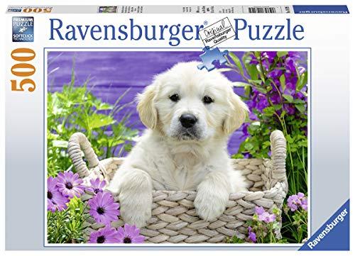 Ravensburger Puzzle 14829 - Süßer Golden Retriever - 500 Teile Puzzle für Erwachsene und Kinder ab 10 Jahren, Tier-Puzzle mit Hunde-Motiv