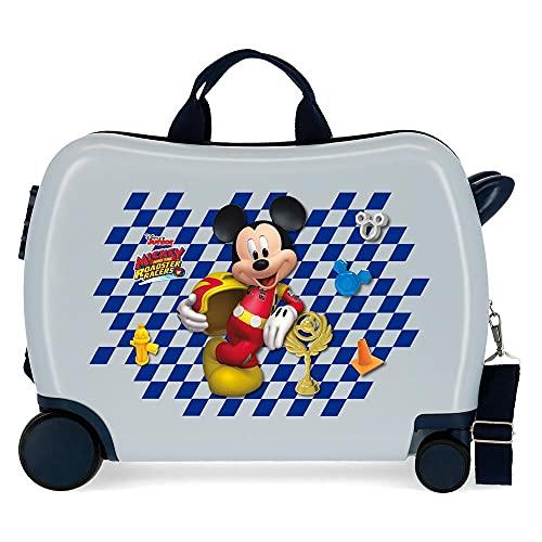 Disney Mickey Good Mood Kinder-Koffer Mehrfarbig 50x38x20 cms Hartschalen ABS Kombinationsschloss 34L 2,1Kgs 4 Räder Handgepäck