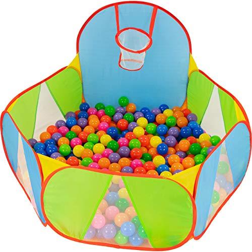 NUBUNI Bällebad für Kinder : Bällepool : Bällebad für Baby : Kleinkind Bällchenpool : Bällchenbad : Planschbecken : Baby Spielzelt : Ballebad : Pop up A