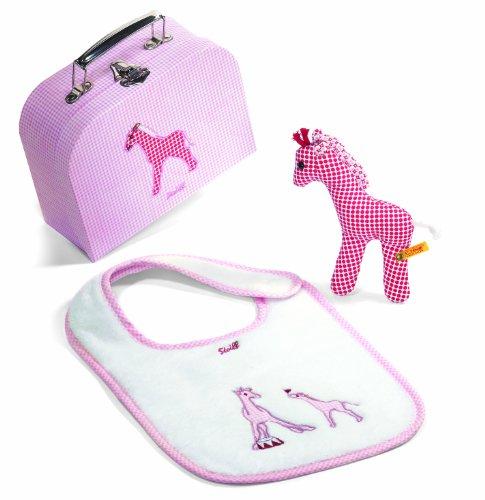 STEIFF 235993 - Giraffe Geschenkeset klein, weiss/rosa