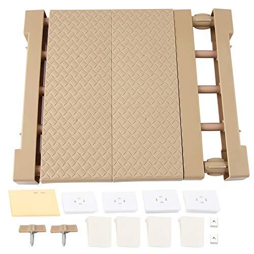 HERCHR Verstellbare Kleiderschrankregale, erweiterbares Lagerregal Spannregal Trennregal für Küchenschrank Kleiderschrank(S)