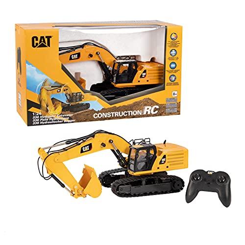 Diecast Masters 25001 - Ferngesteuerter Caterpillar RC Kettenbagger 336 Next Gen, detailgetreues, realistisches CAT Baufahrzeug in 1:24, ca. 49 x 16,5 x 22 cm, ca. 25 m Reichweite, ab 8 Jahren
