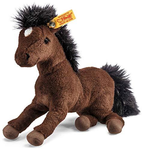 Steiff Hanno Hannoveraner - 22 cm - Plüsch Pferd liegend - Kuscheltier für Kinder - Plüschpferd - weich & waschbar - braun (280351)