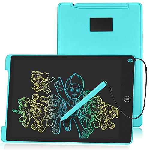 HOMESTEC Schreibtafel 12 Zoll, Buntes Display, LCD Elektronische Maltafel für Kinder, Blau