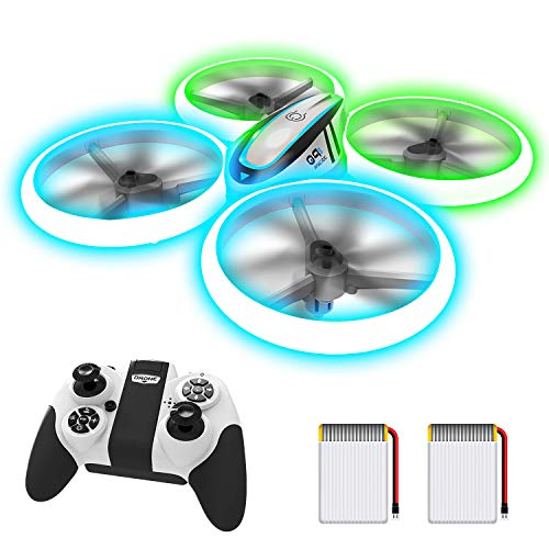 AVIALOGIC Q9s Drone Drohne für Kinder mit Höhehalten und Kopflosem Modus,RC Quadcopter mit Blauen & Grünen Lichter und 2 Akkus,Spielzeug Drohne für Kinder und Anfänger