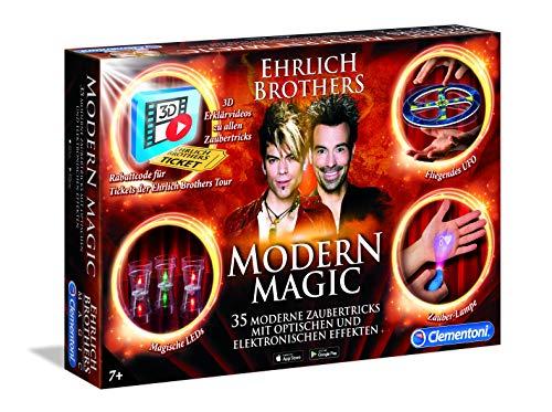 Clementoni 59050 Ehrlich Brothers Modern Magic, Zauberkasten für Kinder ab 7 Jahren, magisches Equipment für 35 moderne Zaubertricks, inkl. 3D Erklärvideos, als Geschenk zu Ostern