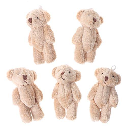 Lisanl Kleine Bären im Kawaii-Stil, Plüschtier, Perlensamt, Geschenkidee, Mini-Teddybär, 5 Stück LBN